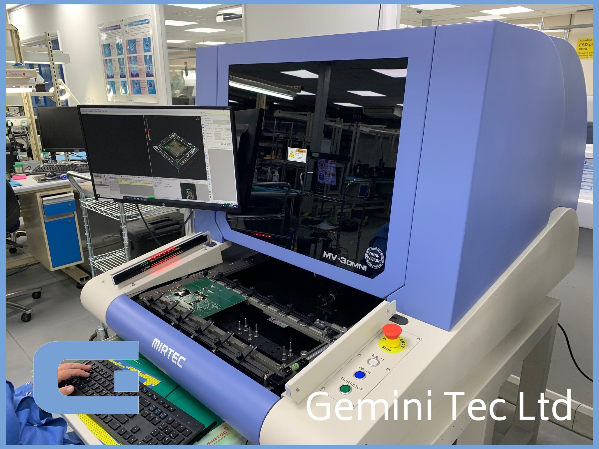 3D AOI using Omni vision at Gemini Tec Ltd